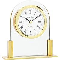 London Reloj de cristal Arch Top Mantel, oro