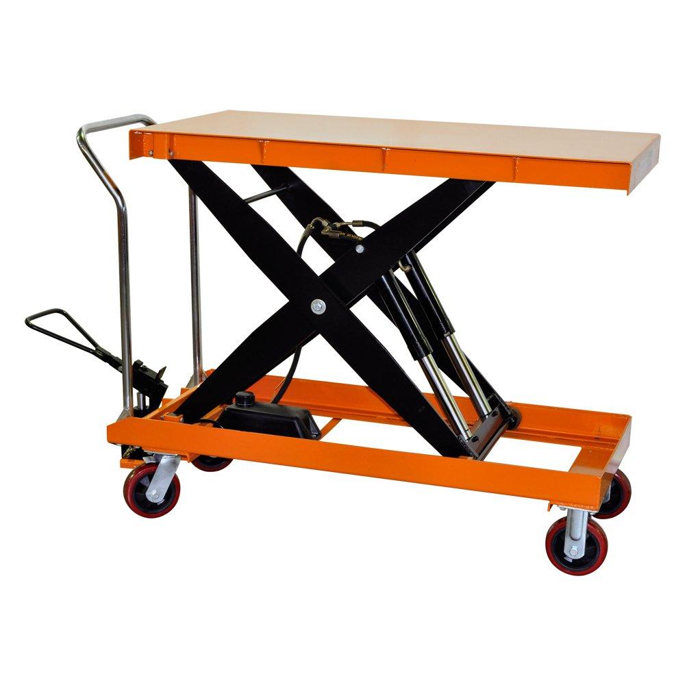 Bolton Tools New Hydraulic Scissor Lift Table Cart - 2200 LB of Capacity - 39.4'' Max Height - Model TF100D