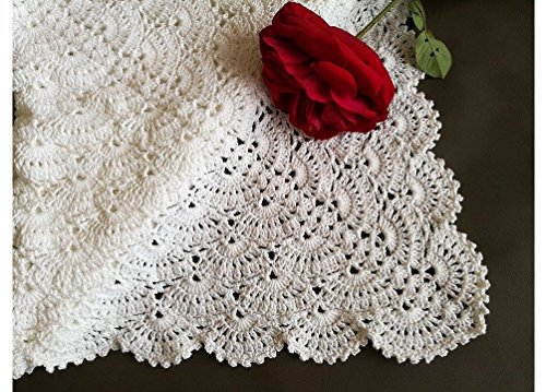 CROCHET PATTERN Baby Blanket, Christening Baby Blanket, Baby warp Blanket, Cotton, lace, shell, newborn photography props, baby shower