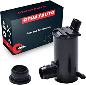 Windshield Washer Pump for Hyundai, Kia Vehicles - 95-99 Accent, 10-14 Tucson, 11-13 Sportage - OTUAYAUTO Factory OE Style with Grommet