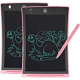GUYUCOM Writing Board, 8.5inch LCD Writing Tablet Doodle Board Message Board with Lock Button for Kids Adults (pink-2pcs)