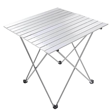 Superior Aluminum Roll Up Table Folding Camping Outdoor Indoor Picnic W/ Bag Heavy  Duty