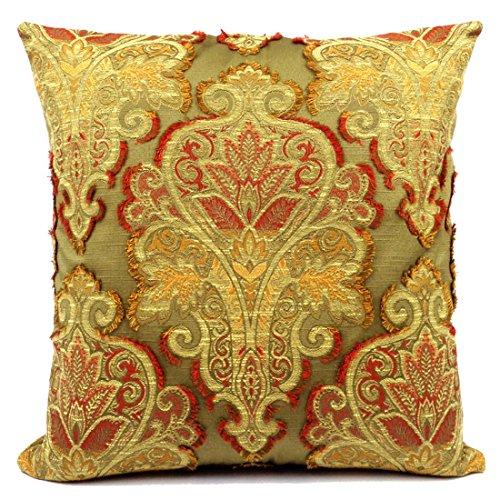 Hemmingway Pillow Cover 20x20 Gold, Burgundy, Olive Handmade in USA