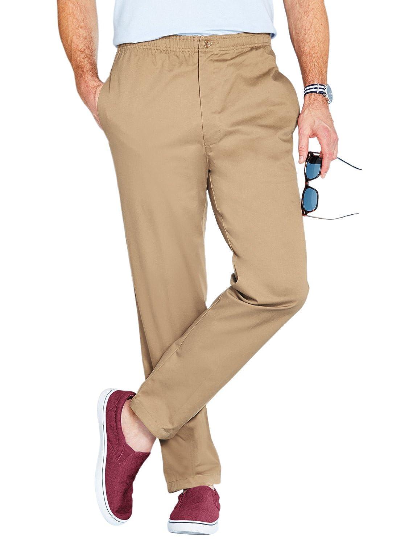 TALLA Cintura 106cm x Longitud De Las Piernas 84cm. Pantalones Elásticos de Algodón con Cordón para Hombre