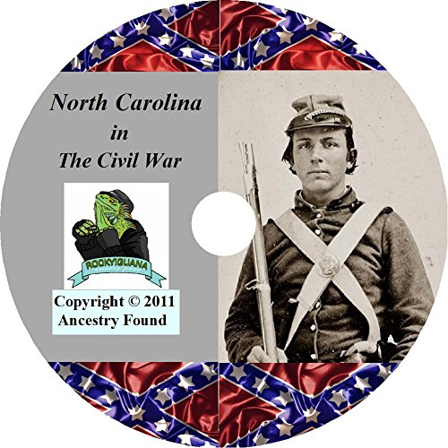 North Carolina Civil War History and Genealogy - The Ultimate Collection - 18 books on DVD