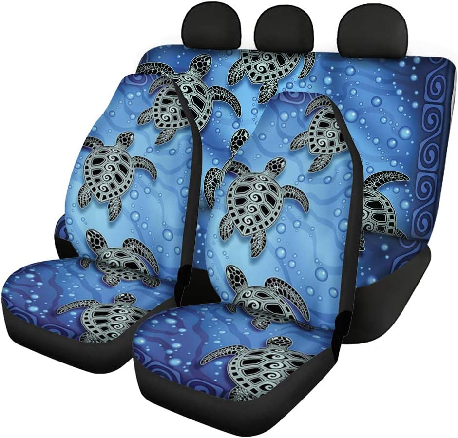 GLENLCWE Sea Turtle Universal Fit Car Seat Cover 100/% Breathable Front /& Rear Seat Cover