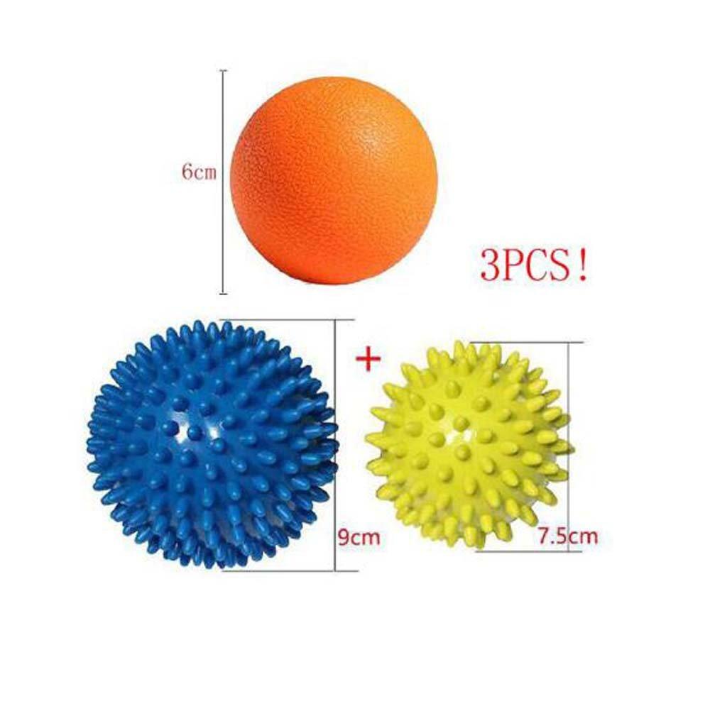 Bbshop Massage Ball Set (2 Hard Spiky & 1 Lacrosse Ball ) Sport Fitness Hand Foot Pain Relief