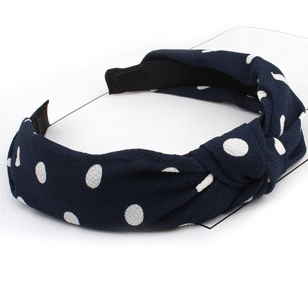 89292cd91 Amazon.com : HaloVa Headband, Wide Knotted Hair Clasp Head Wrap Hair Bands  Headwear Turban Hair Accessories for Women and Girl, Lovely Chiffon Dots,  ...