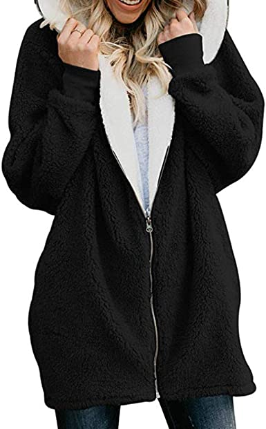 X-Future Mens Winter Sherpa Jacket Thick Mid Length Plus Size Fleece Lined Coat