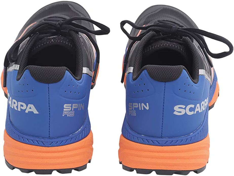 Scarpa Mens Spin RS8 Alpine Trail Running Shoes Trainers Sneakers Black Blue