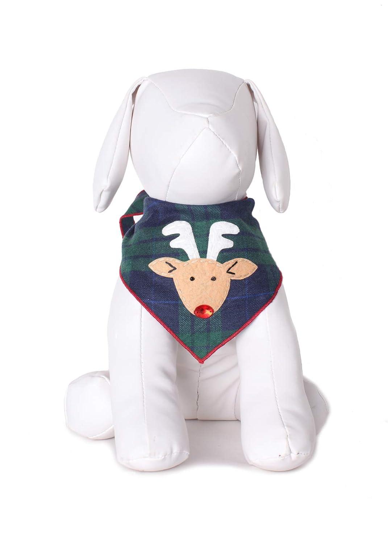 reindeer bandana on a toy dog