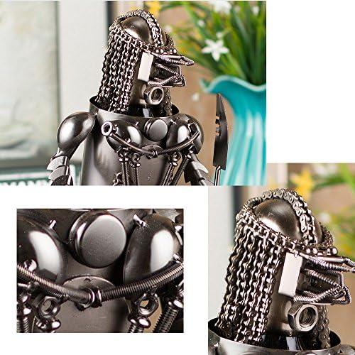 SUNBOR Soporte para Botella de Vino, diseño Vintage, diseño de Robot Warrior, Hecho a Mano, Moderno, para decoración del hogar: Amazon.es: Hogar