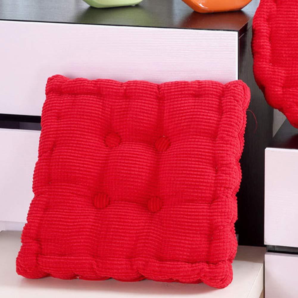 Quadrato cuscino per sedia sedile Pad Addensato corduroy Fabric Tatami cuscino per casa giardino decorazione 40 x 40 cm, Blue, Taglia libera Behavetw