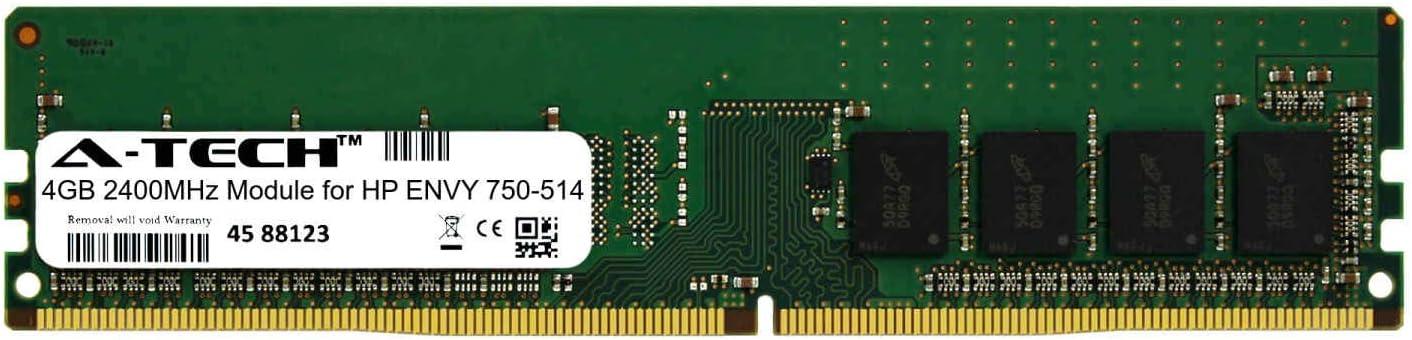 A-Tech 4GB Module for HP Envy 750-514 Desktop & Workstation Motherboard Compatible DDR4 2400Mhz Memory Ram (ATMS274110A25815X1)