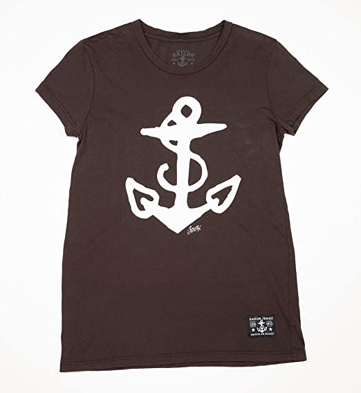 b0e4115d Sailor Jerry Women's T-Shirt - Anchor (Black) (X-Large): Amazon.co ...