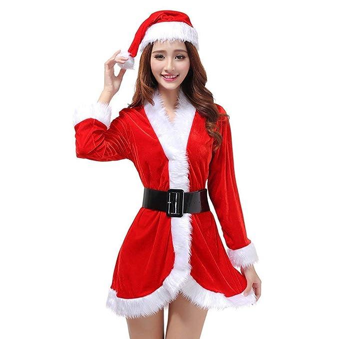 Amazon.com: Disfraz de Navidad para disfraz de Papá Noel de ...