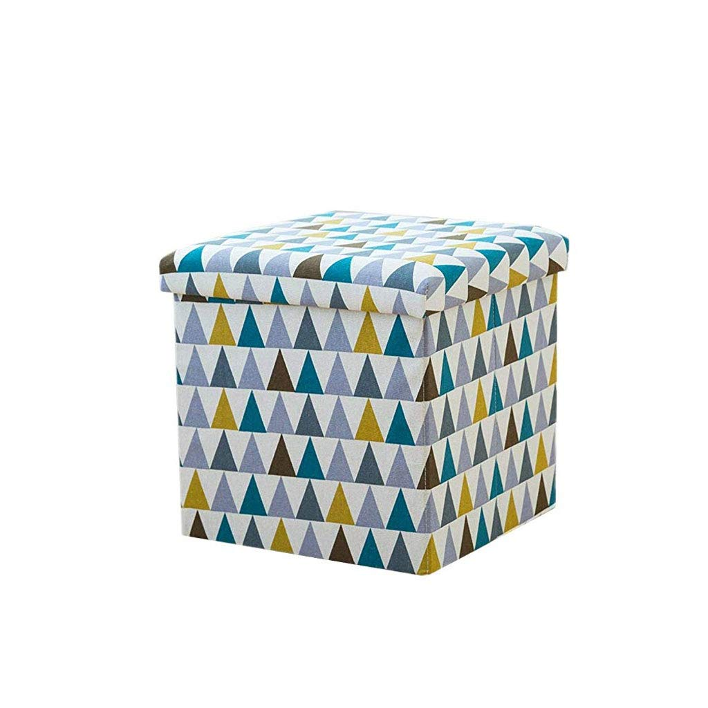 D 38×38×38 FH Household Footstool, Can Be Stored in The Storage Stool Foldable Multi-Function Storage Box, Multi-color Selection (color   B, Size   38×38×38)