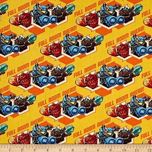 Skylanders Full Boom Sunshine Fabric By The Yard -