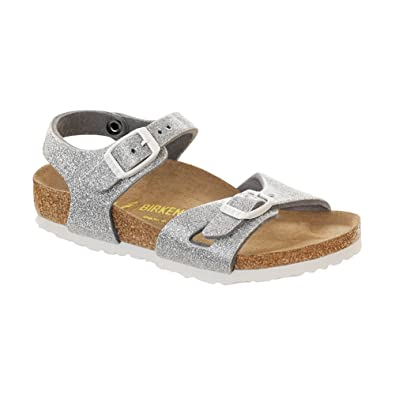 Birkenstock Girls Rio Sandal Magic Galaxy Silver Birko Flor