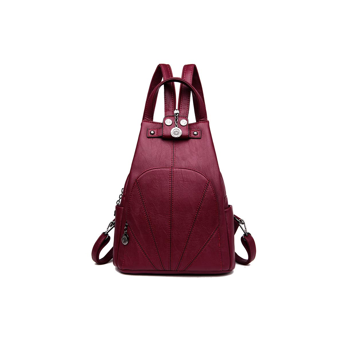 Two Styles of Three Colors Sleek and Simple. Haoyushangmao Girls Multi-Purpose Backpack for Daily Travel//Outdoor//Travel//School//Work//Fashion//Leisure PU Leather