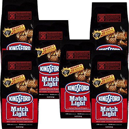 Charcoal Grill Briquet Kingsford Match Light Instant Charcoal Briquettes 11.6 lb (6pk)