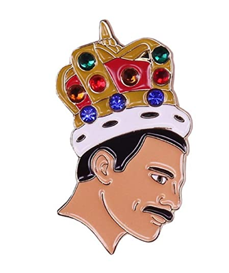 Amazon.com: Queen Lead Singer Freddie Mercury Pin de 1.5 in ...