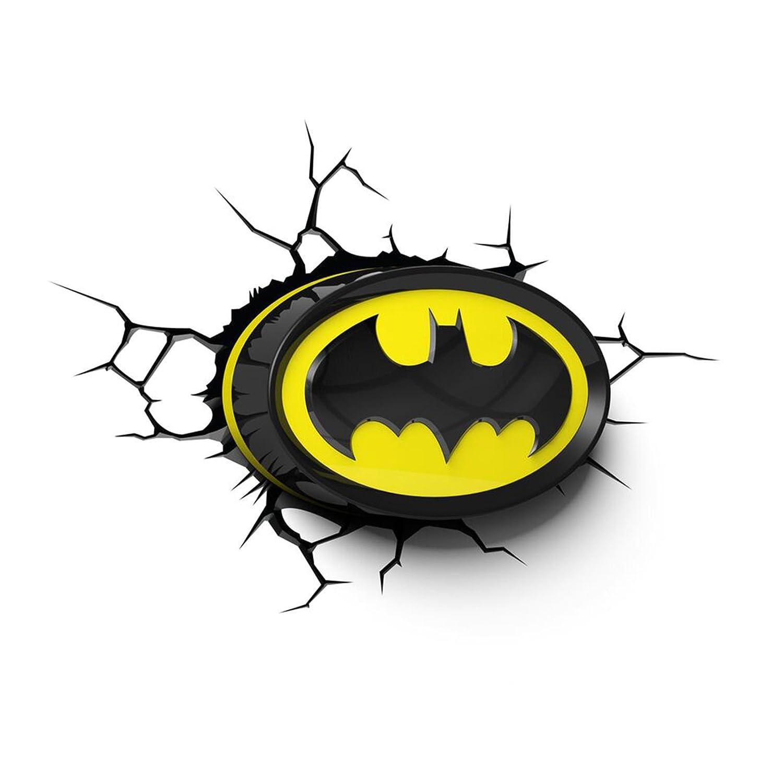 Amazoncom Batman Logo 3D LED Wall Light Home Kitchen