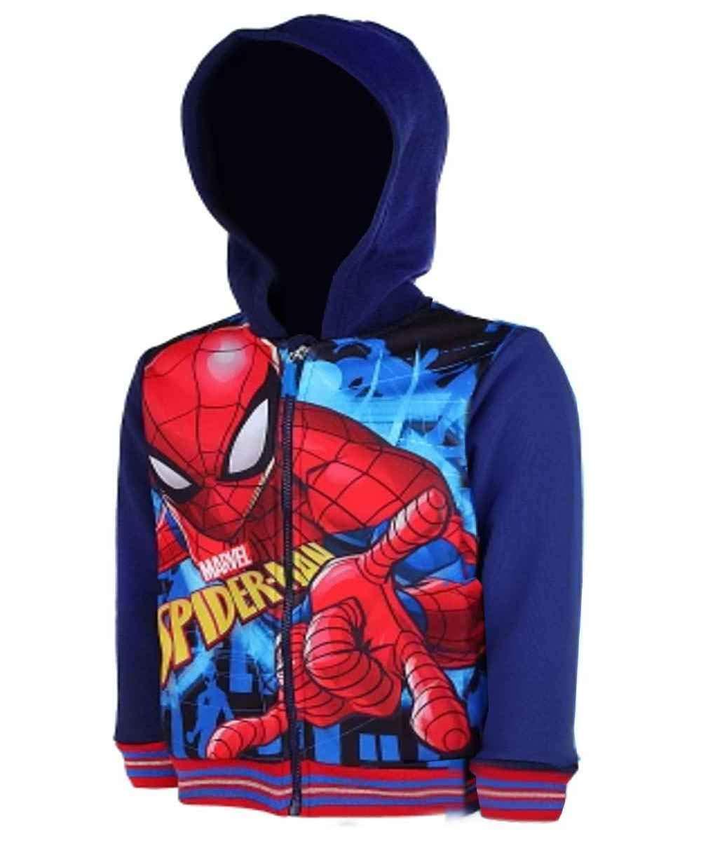Jungen Spiderman Hooded Sweatshirt Pullover Sweat Top Alter von 2 bis 8 Jahre