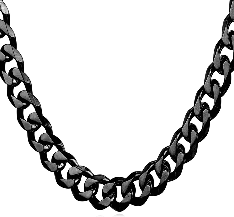 Daesar Collar Cadena Oro Hombre Cadena Curb Collares de Cadena Acero Inoxidable Hombre 3-12mm Collar de Cadena Hombre 46-76cm