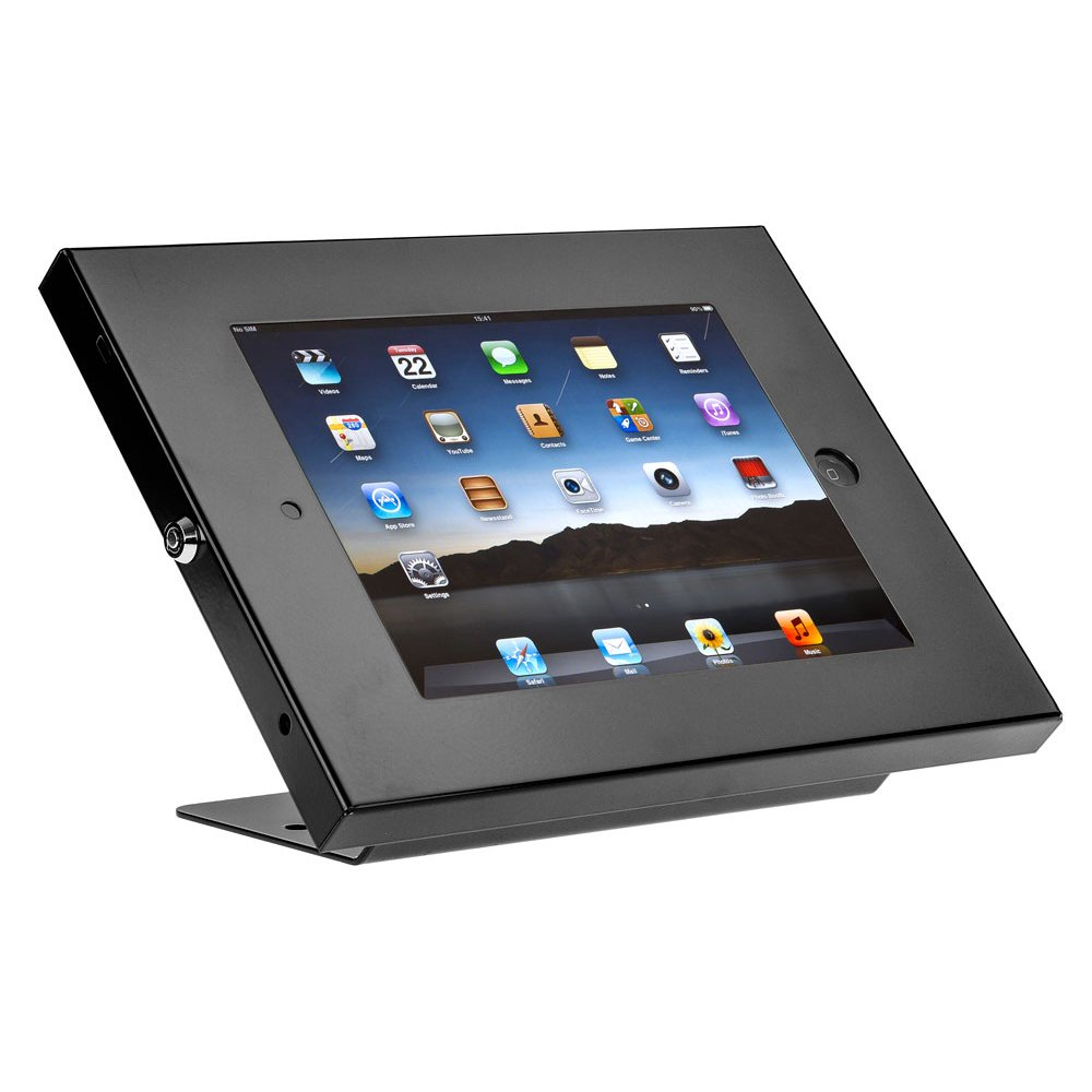 SecurityXtra SecureDOCK UNO Low Profile Security Lock Mount for iPad Pro Black by SecurityXtra