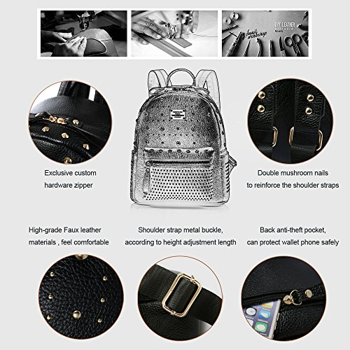 Anne - Bolso mochila  de Material Sintético para mujer azul oscuro