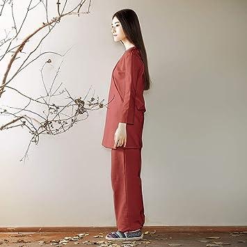 KSUA Conjunto de Ropa de meditación Zen para Mujer Traje ...