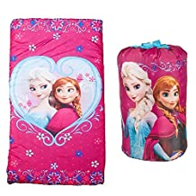 Disney Frozen Anna and Elsa Girls Sleeping Bag and Sling Slumber Set