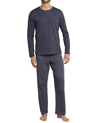 743f4ca3648796 Nachtwäsche 165318 Herrenmode Schiesser Herren langer Schlafanzug Pyjama  Lang