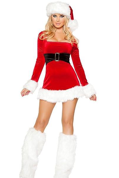 Le Donne Sotto Bodycon Vestito Con Cappello Di Babbo Natale E Footstraps  Costumi Red One Size  Amazon.it  Abbigliamento aa74654ca2a