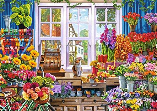 Blossom Flower Shops - Falcon de Luxe Floras Flower Shoppe 1000 Piece Flower Shop Puzzle