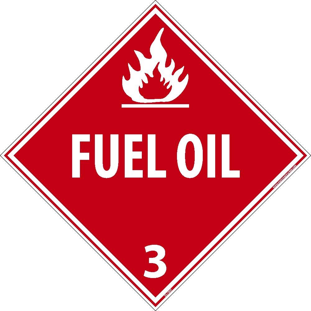 DL100ALV National Marker Dot Shipping Label, Fuel Oil 3, 4 Inches x 4 Inches, Ps Vinyl, 500/Roll