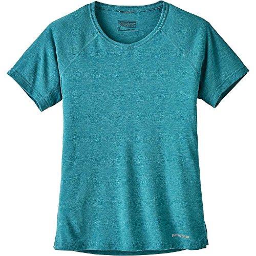 シソーラスくさび告白パタゴニア トップス シャツ Patagonia Women's Nine Trails SS Shirt Elwha Blue 1i6 [並行輸入品]
