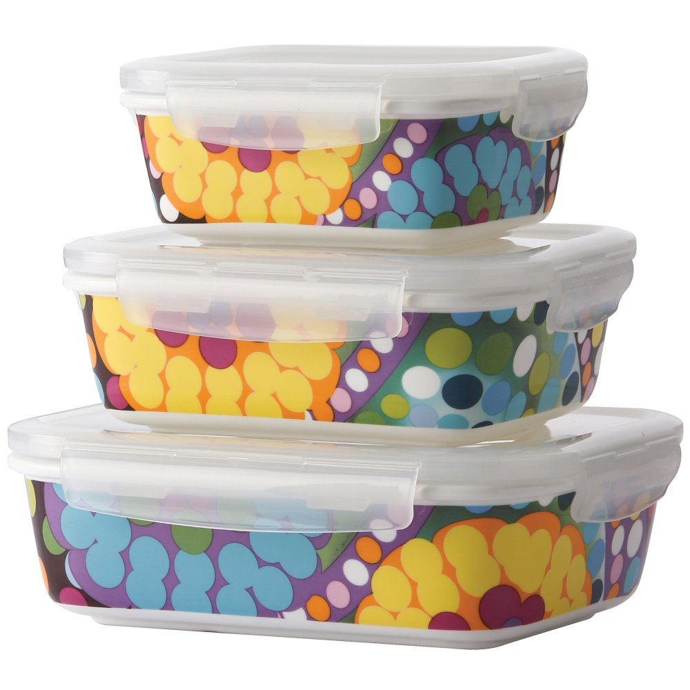 French Bull-Food Storage Container with Air Tight Lid-Porcelain Set-Bindi, Multi 71183