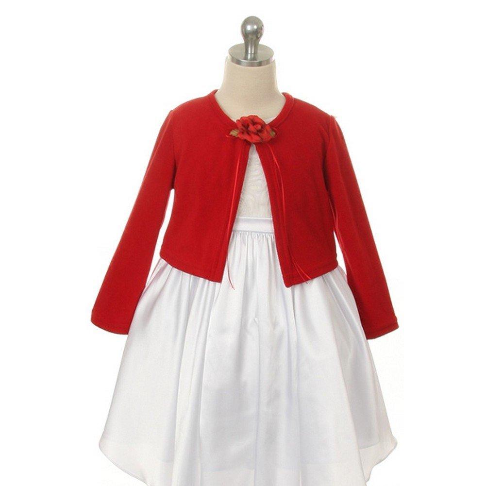 Plain Cardigan Sweater Big Girls Long Sleeves Match Flowers Girls Dresses Winter Kids Dream