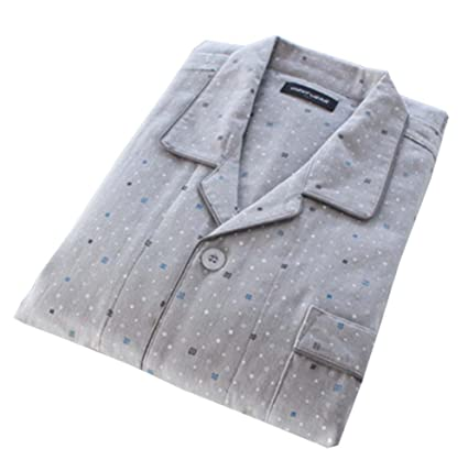 (Delgado) Falda de kimono pijama de algodón estilo albornoz de los hombres japoneses,