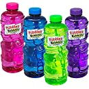 Little Kids Fubbles No-Spill Bubble Tumbler Solution Refill Bottle with Wand - 32 Oz. (Jumbo Bubble Wand included), Assorted Colors