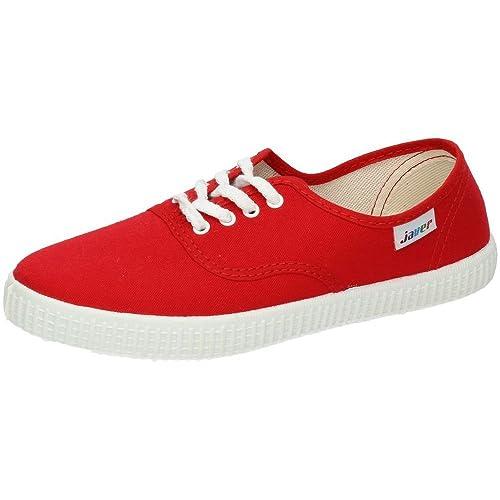 JAVER 60 Bambas Lonas Rojas Mujer Zapatillas Rojo 20