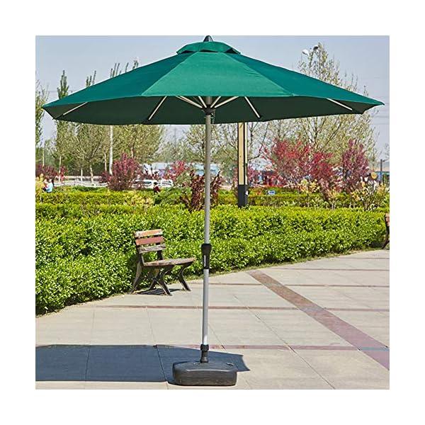 MENG Ombrellone in Alluminio 2.5 M Ombrellone Esterno Protezione UV Ombrellone Rotondo per Ombrellone da Spiaggia… 4 spesavip