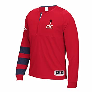 Adidas Washington Wizards de la NBA Rojo 2016 Authentic Pista Lanzador de Manga Larga Camiseta para