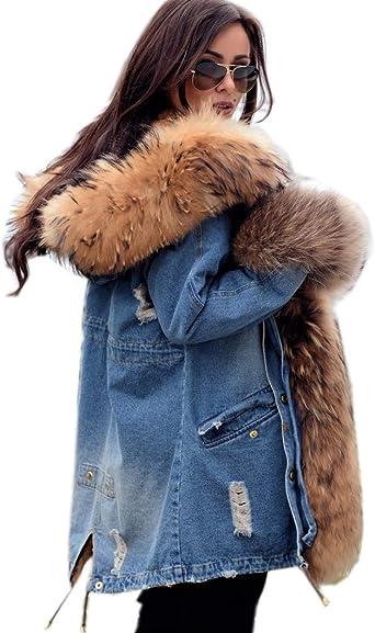 Ladies Faux Fur Hooded Parka