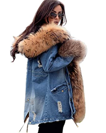 7b4fc41cdba Roiii Plus Size Womens Military Hooded Warm Winter Coats Faux Fur Lined  Parkas (Small,