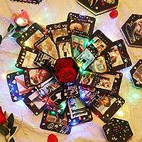 PartykindomExplosion Gift Box Set DIY Handmade Photo Album Scrapbook SurpriseGiftBox with 6 Faces for Valentine