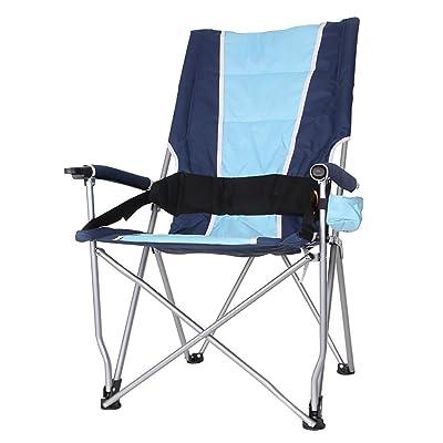 Chaise pliante en plein air Anna Chaise d'escalade Dossier Chaise longue Chaises pliantes de pêche Barbecue Self Drive Chaise de voyage Chaise de plage portative (Couleur : Bleu)