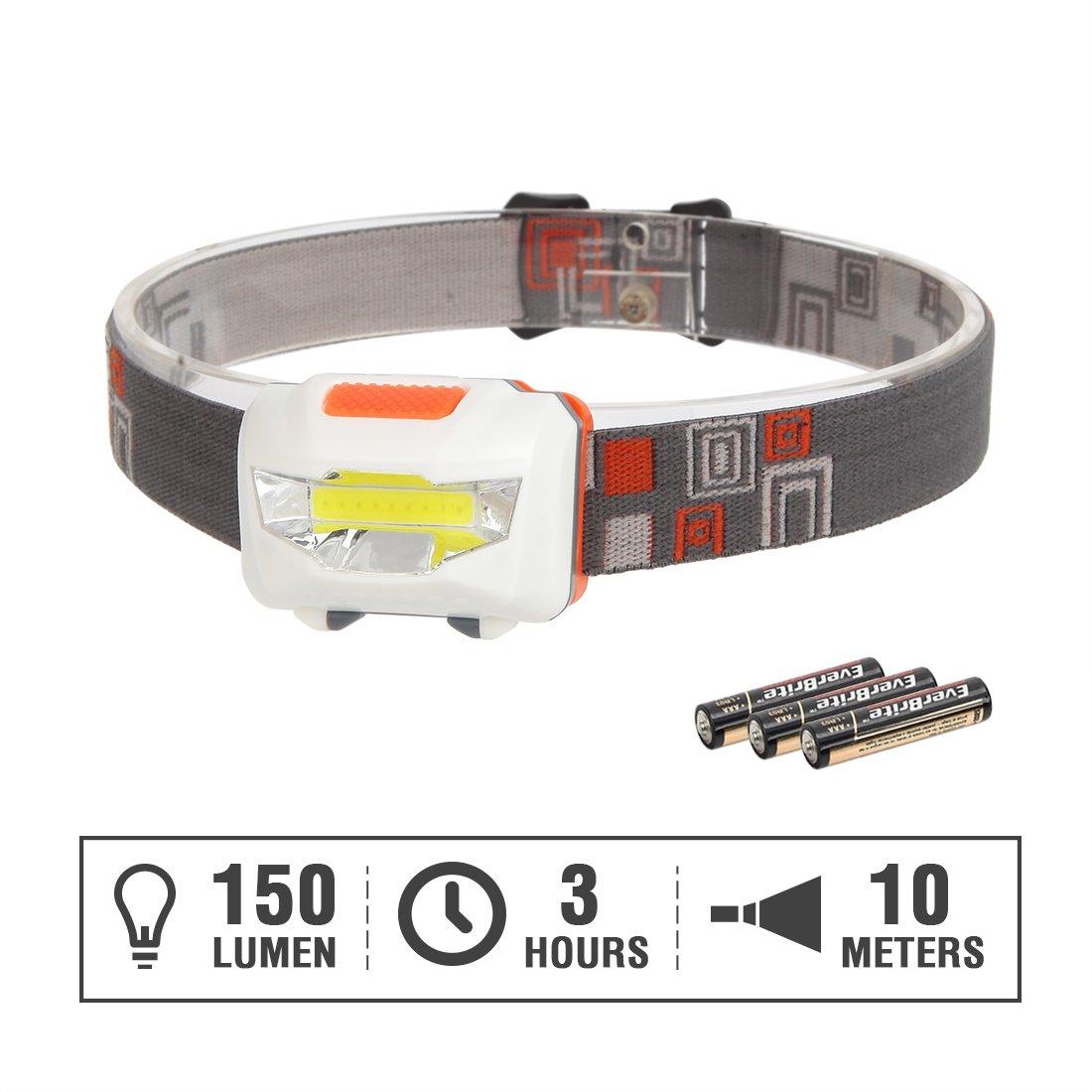 Alkaline Batteries Included Hang Zhou Great Star Industrial Co EverBrite LED Headlamp Set 5-pack 3 Modes COB Super Bright Head Light with Adjustable Band Strap LTD